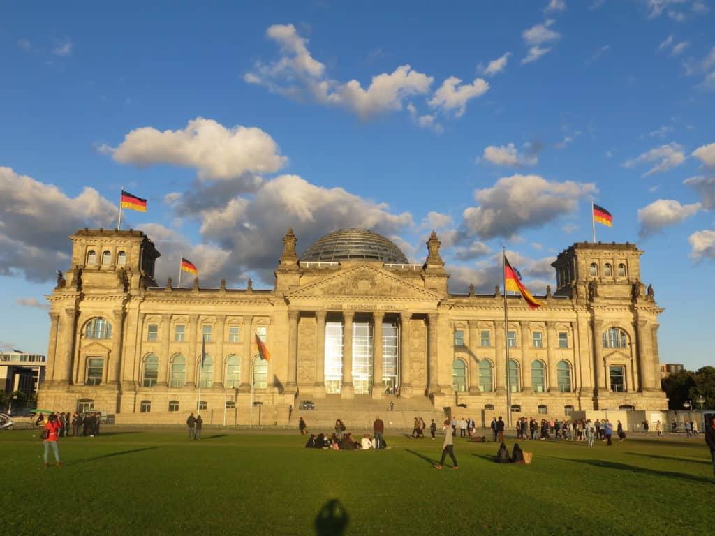 Bundestag Reichstagsgebäude in Berlin in Germany