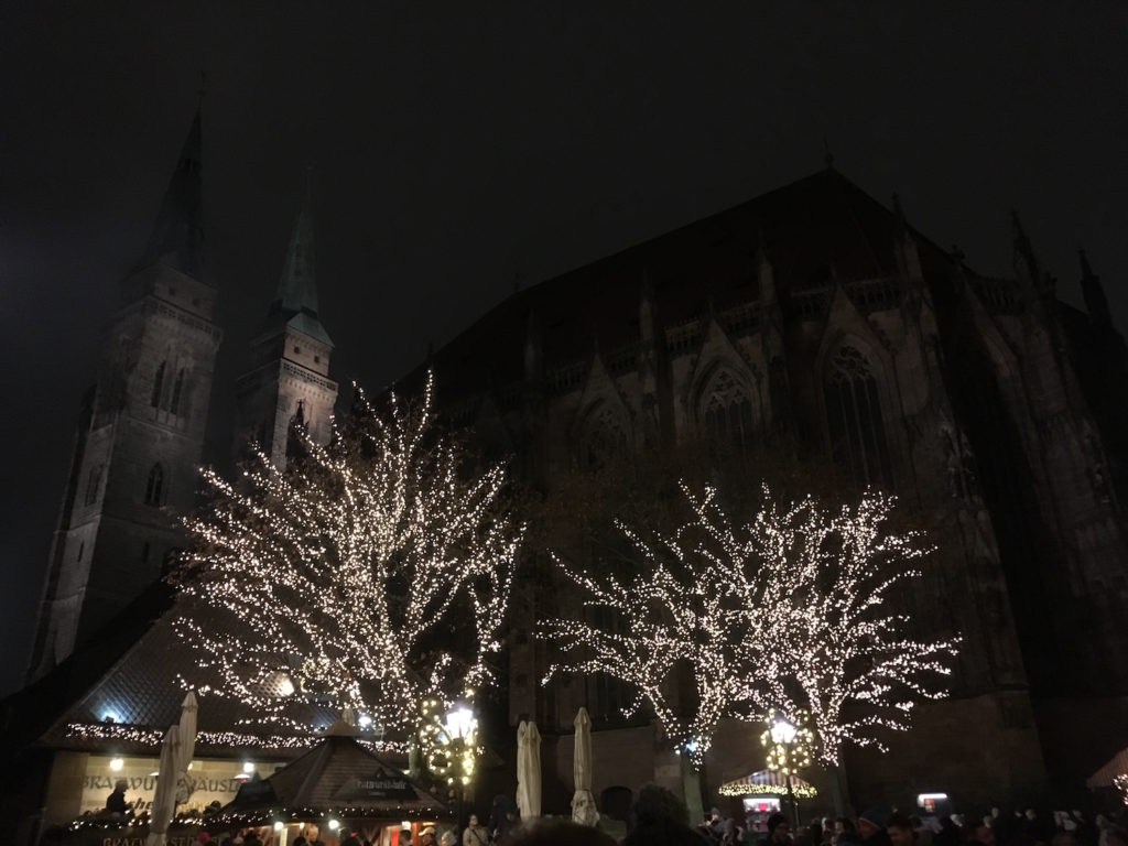 Christmas market in the old town of Nuremberg