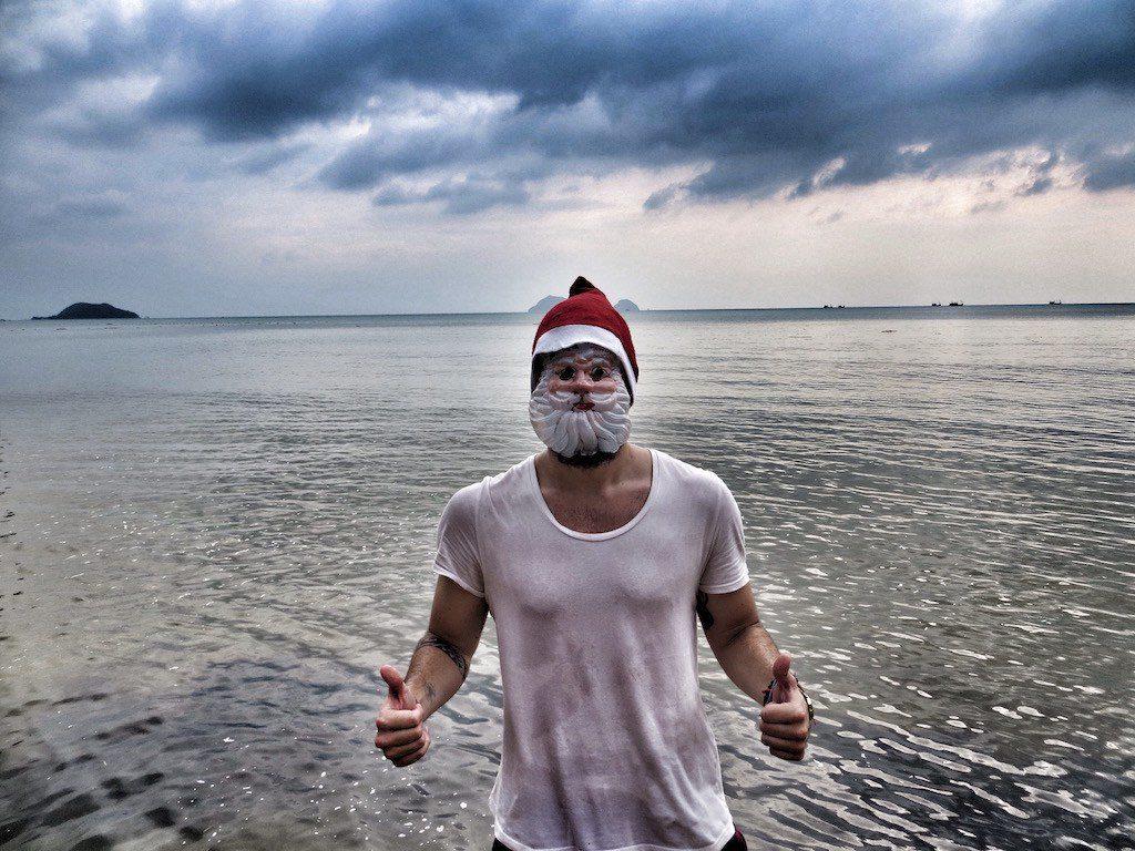 The christmas spirit on the beach on Koh Phangan