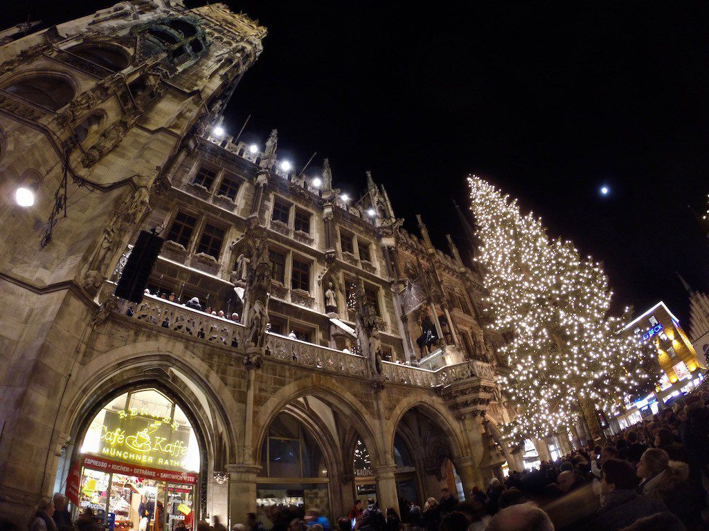 Christmas tree at Marienplatz in Munich