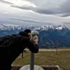 View from the Wankberg overlooking Zugspitze and the Alps