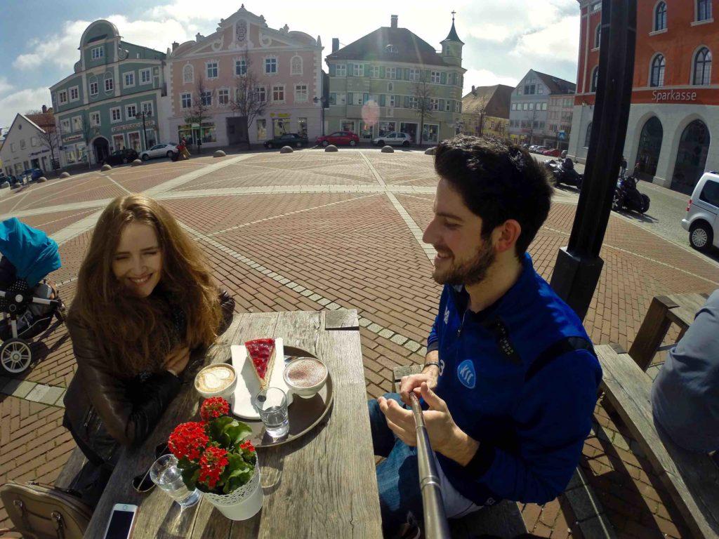 Cafe break at Marktplatz in Erding Germany