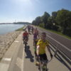 Donau bike trip on my mums old city bike with friends from around the world