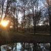 Sunset in the English Garden in Munich Germany
