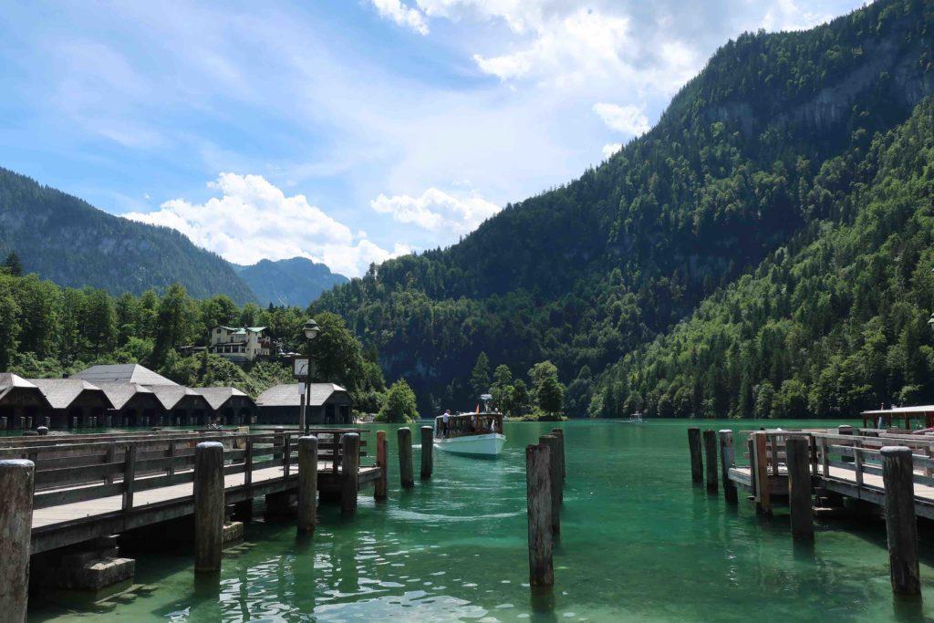 Boat port at Königsee in Berchtesgaden in Germany
