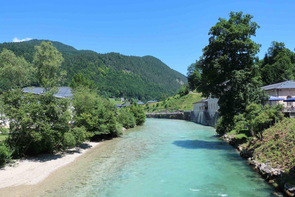 Berchtesgaden river in Berchtesgaden in Germany