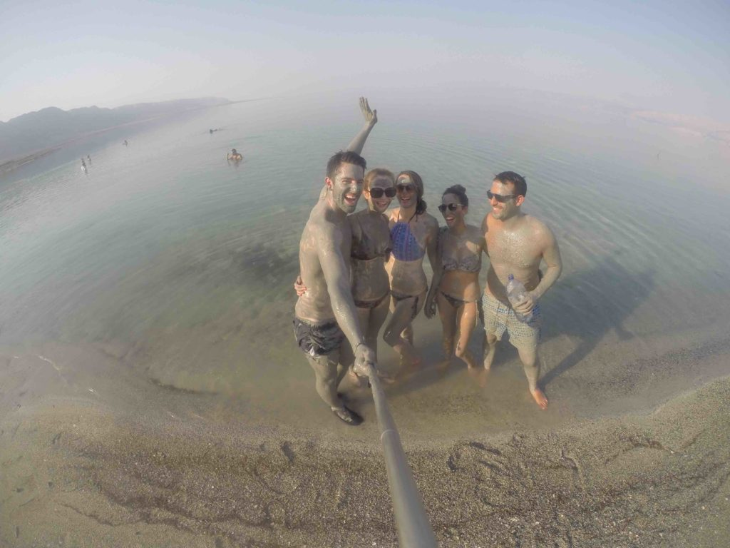 Mud treatment in the dead sea in Israel