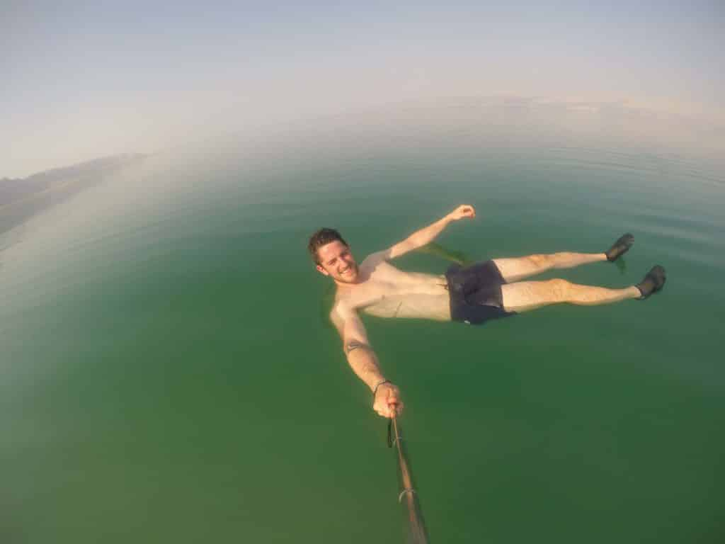 Floating in the dead sea in Israel was awesome