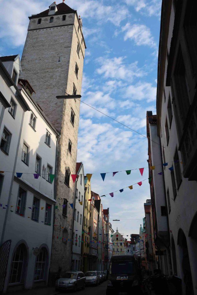 The Golden Tower in Regensburg