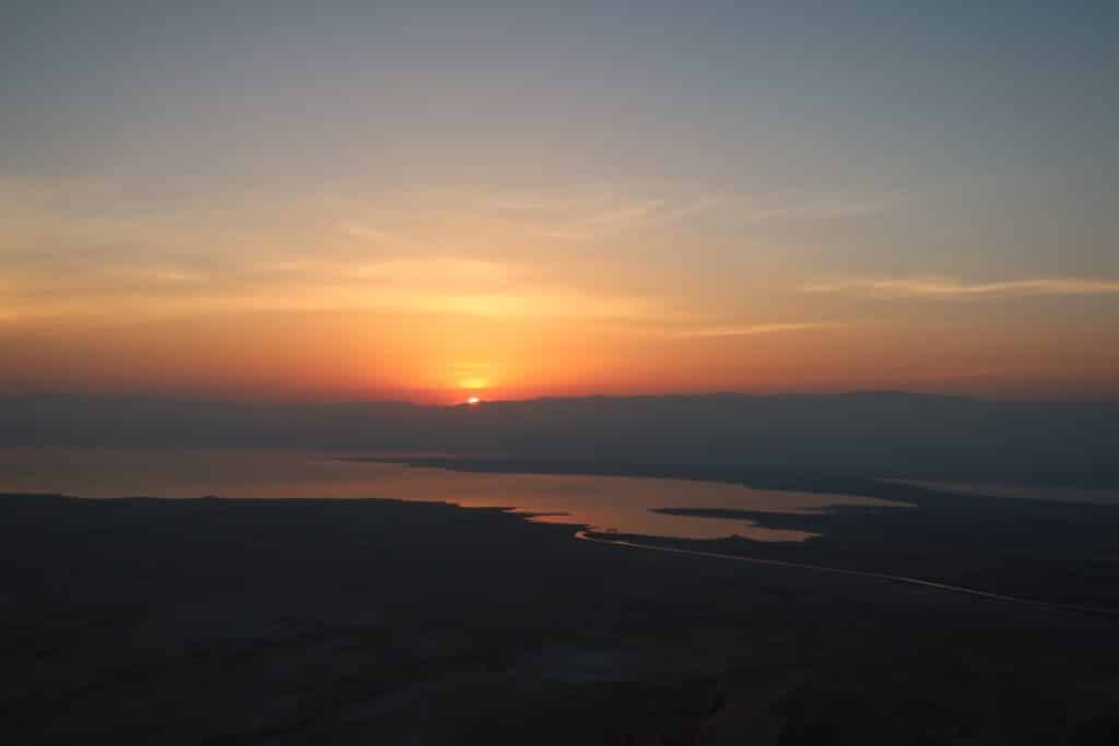 Most magical sunrise on Masada mountain in Israel was worth getting up at 3am