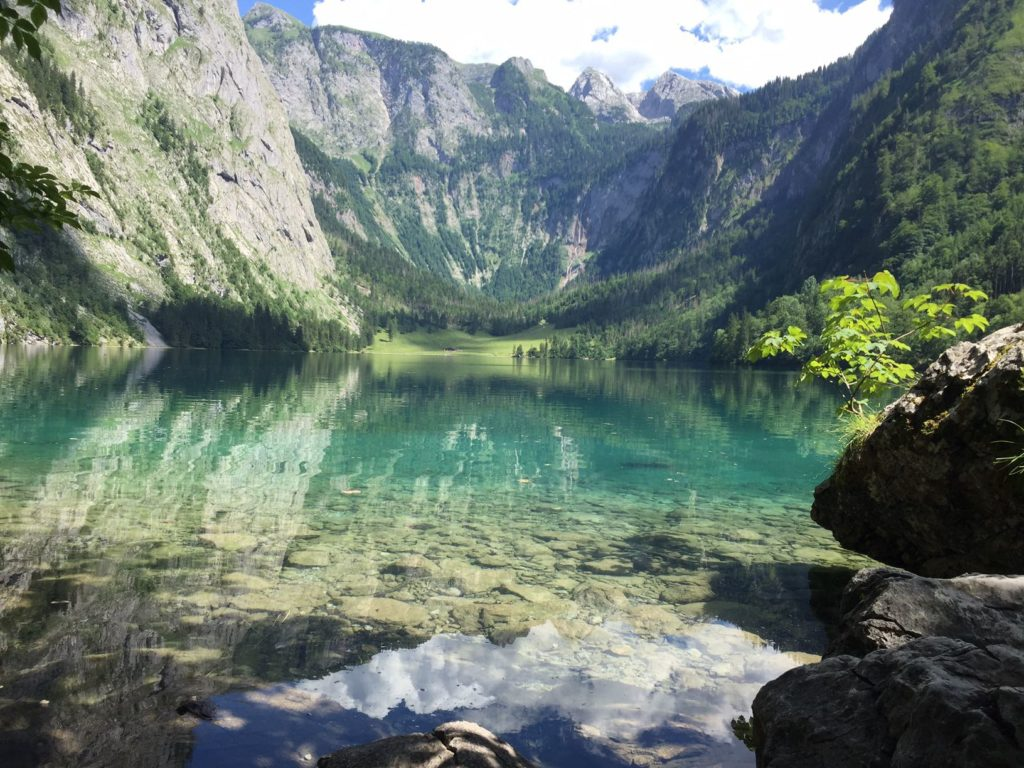 Obersee lake next to Königsee lake in the Alps in Germany