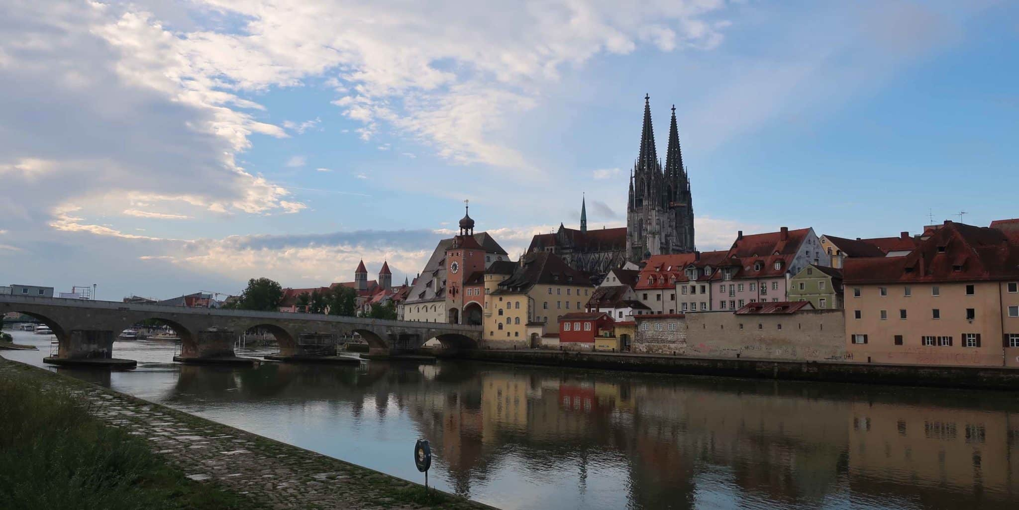 Regensburg City Skyline with the old town