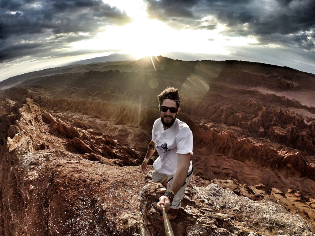 Sunset selfie in VALLE DE LA LUNA, CHILE
