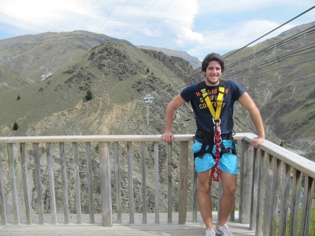 READY FOR BUNGEE JUMP IN QUEENSTOWN IN NEW ZEALAND