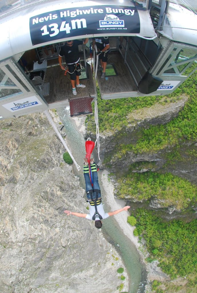 SCARED PICTURE DURING BUNGY