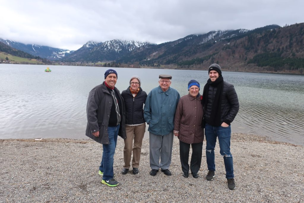 family picture on SCHLIERSEE LAKE