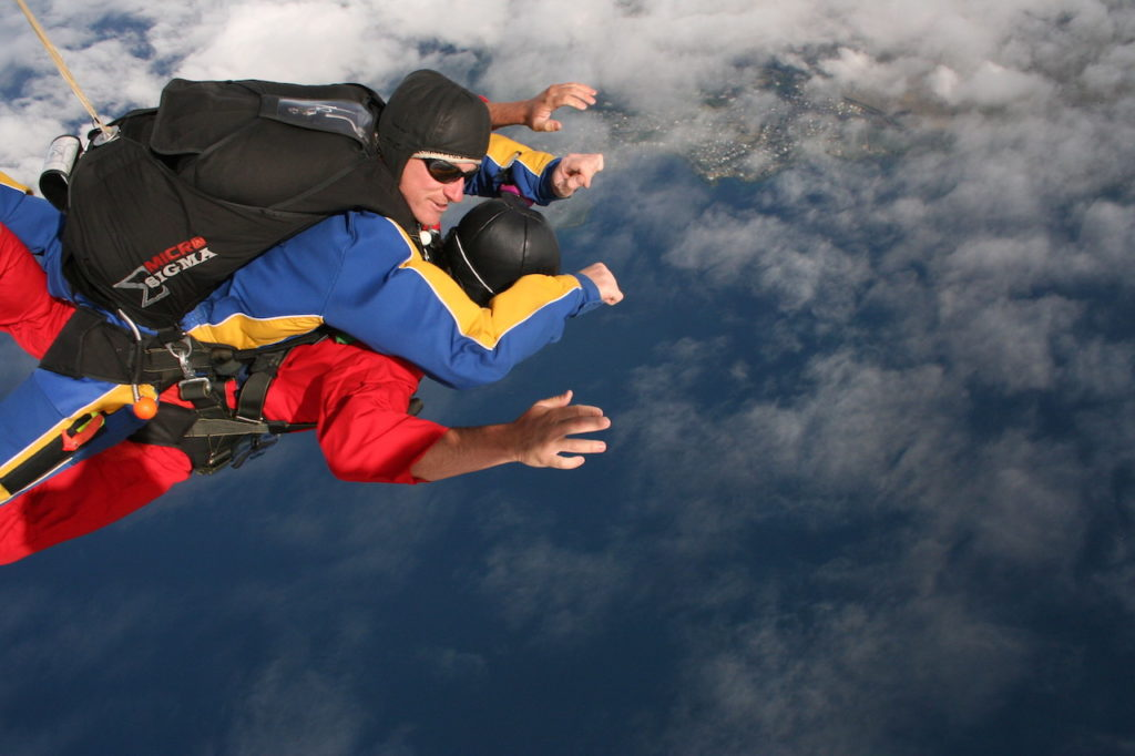 SKY DIVING BY TWO MAN