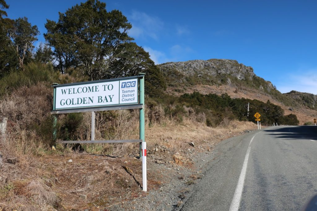 Welcome to Golden bay, New Zealand