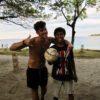 PLAYING FOOTBALL WITH LOCAL ON GILI ISLAND