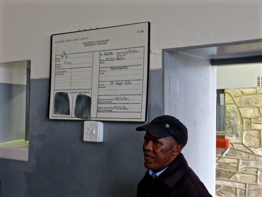 GUARD AT NELSON MANDELA PRISON ROBBEN ISLAND