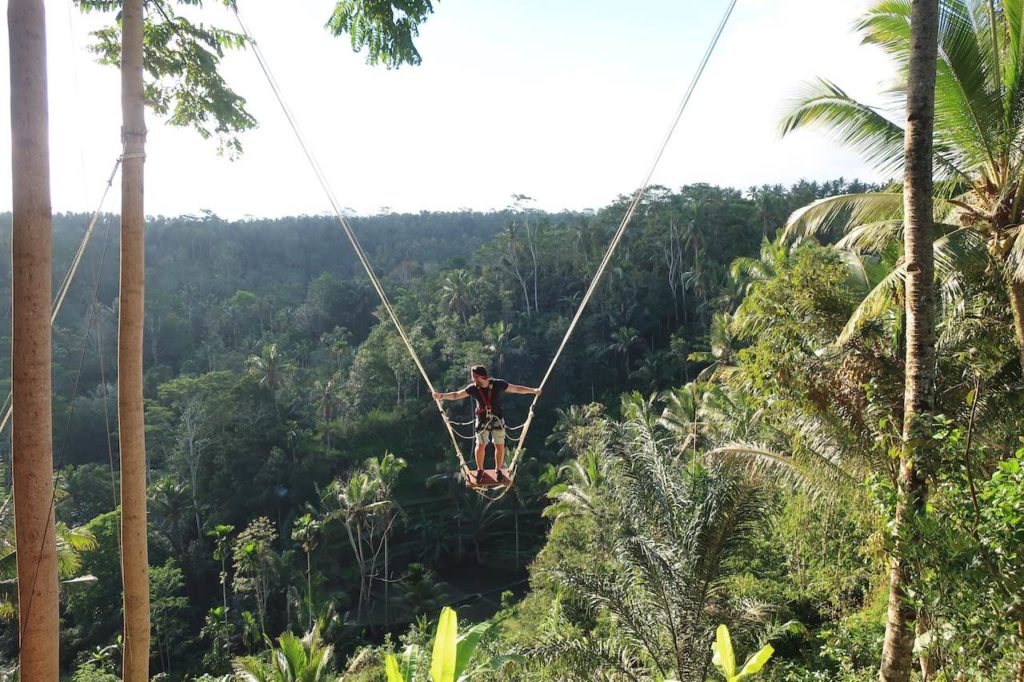 Swing on rope in Ubud