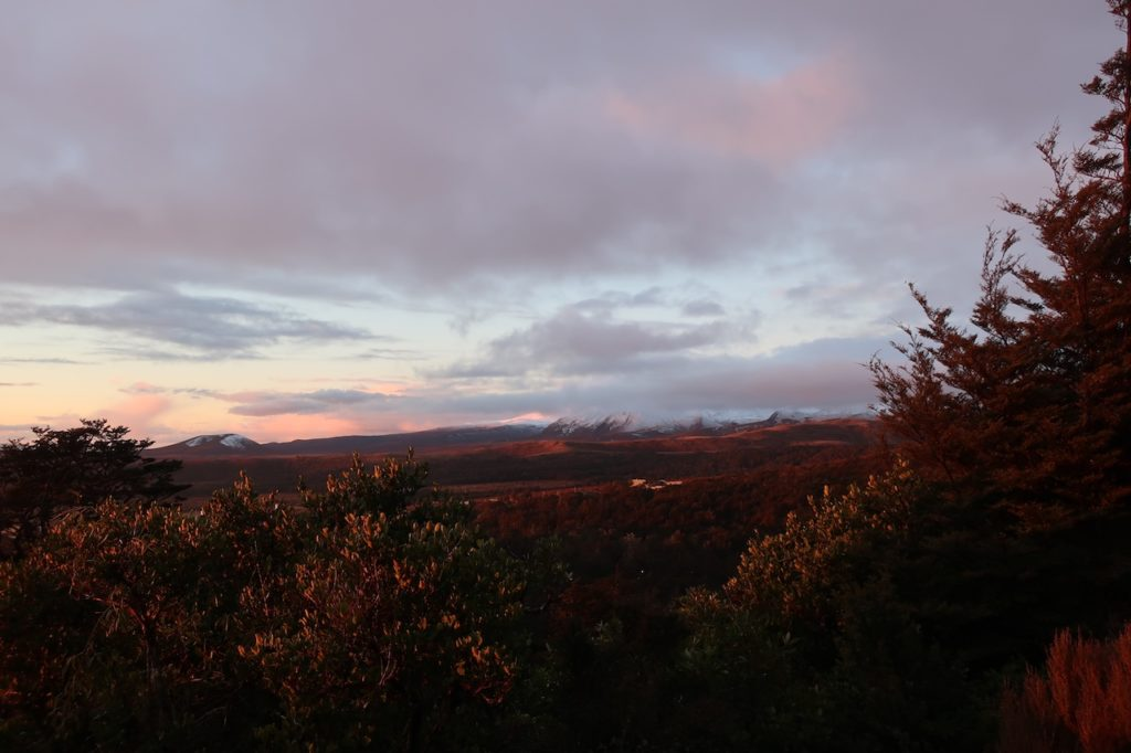tongariro national park sunset
